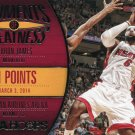 2014 Hoops Basketball Card Moments of Greatness #5 Lebron James