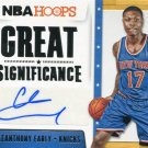 2014 Hoops Basketball Card Great Significance AUTO #96 Cleanthony Early