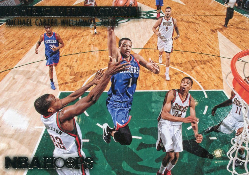 2014 Hoops Basketball Card Lights Camera Action #5 Michael Carter-Williams