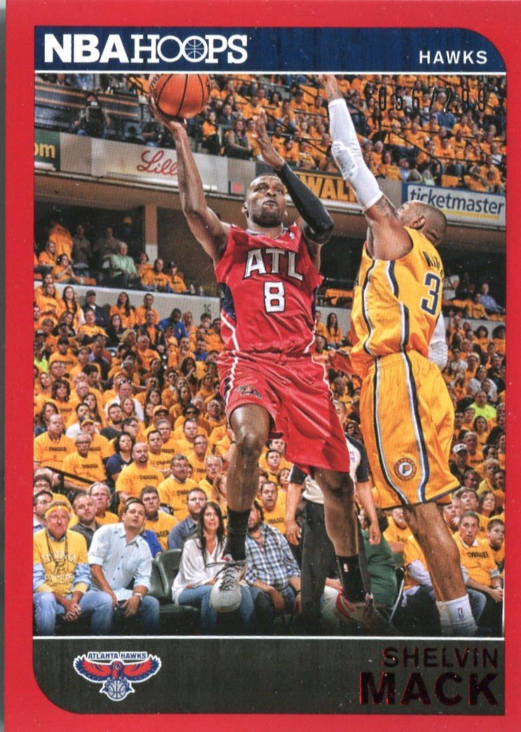 2014 Hoops Basketball Card Red Parallel #101 Shelvin Mack