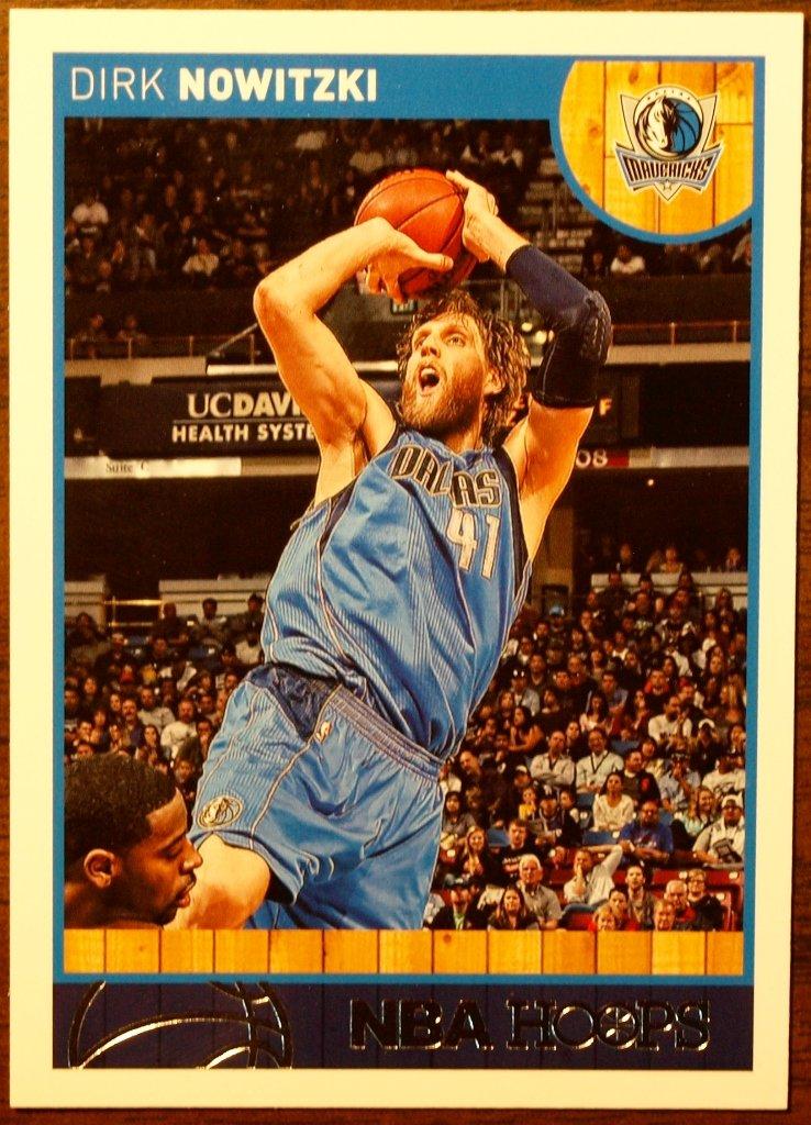 2013 Hoops Basketball Card #115 Dirk Nowitzki