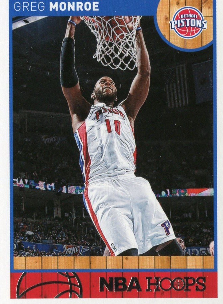2013 Hoops Basketball Card #154 Greg Monroe