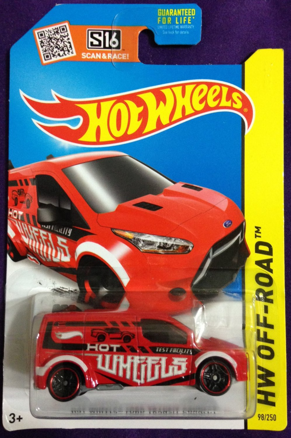 2015 Hot Wheels #98 Hot Wheels Ford Transit Connect