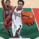 2012 Hoops Basketball Card #101 Brandon Jennings