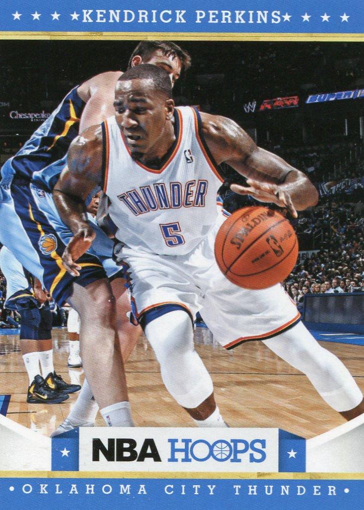 2012 Hoops Basketball Card #134 Kendrick Perkins