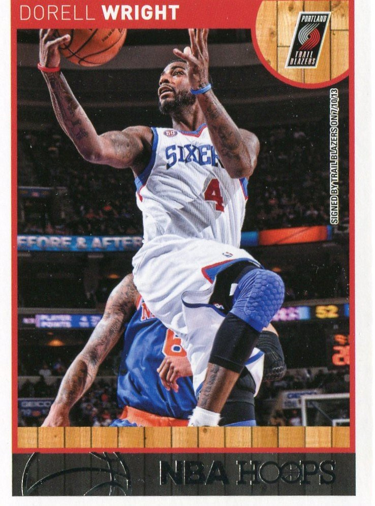 2013 Hoops Basketball Card #194 Dorell Wright