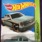 2015 Hot Wheels #249 Chevy Siverado STEEL BLUE