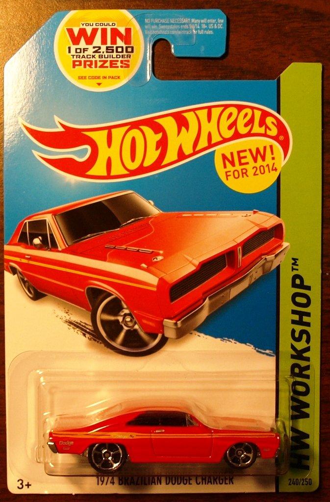 2014 Hot Wheels #240 1974 Brazillian Dodge Charger