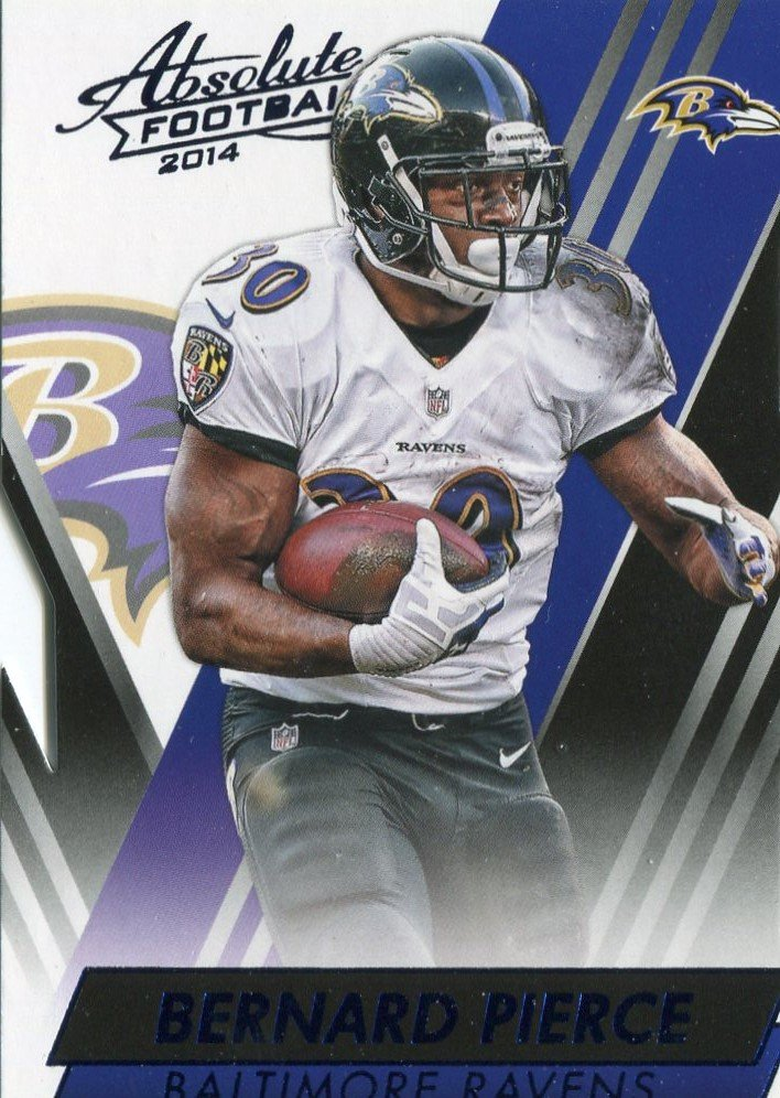 2014 Absolute Football Card Blue #57 Bernard Pierce