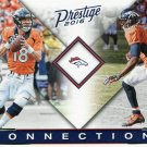 2016 Prestige Football Card Connections #8 Peyton Manning/Emmanuel Sanders