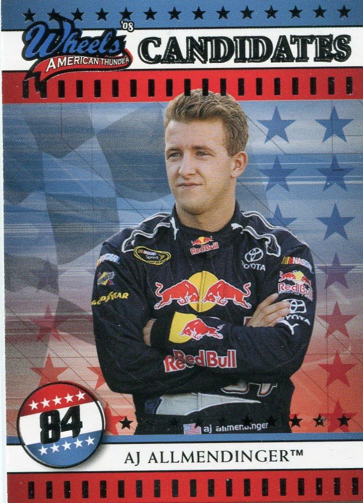 2008 Wheels American Thunder Racing Card #2 A J Allmendinger