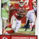 2016 Score Football Card #160 Charcandrick West