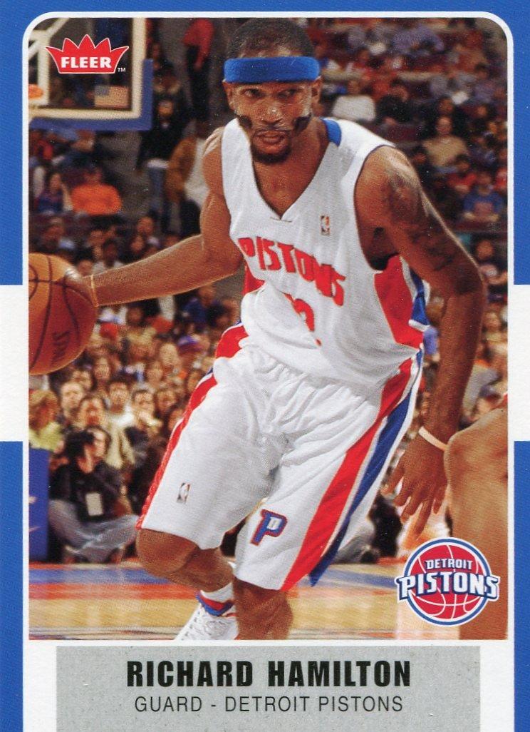 2007 Fleer Basketball Card #3 Richard Hamilton
