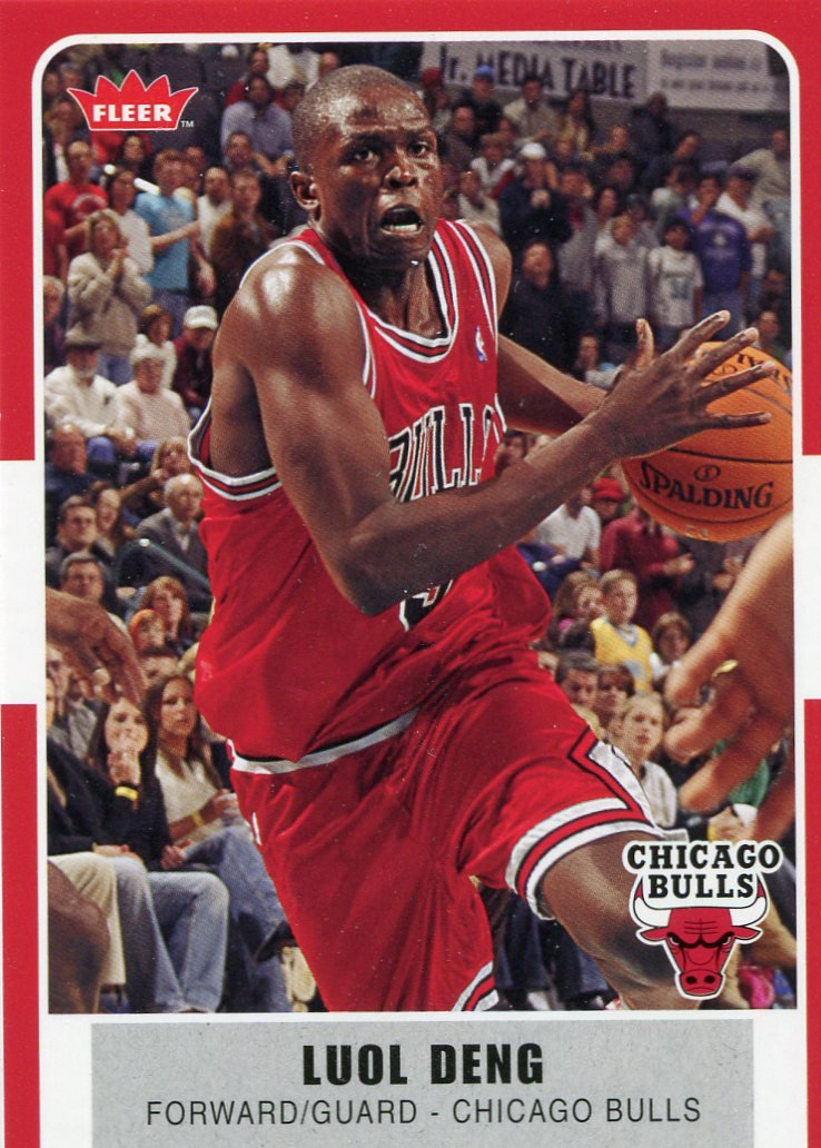 2007 Fleer Basketball Card #28 Luol Deng
