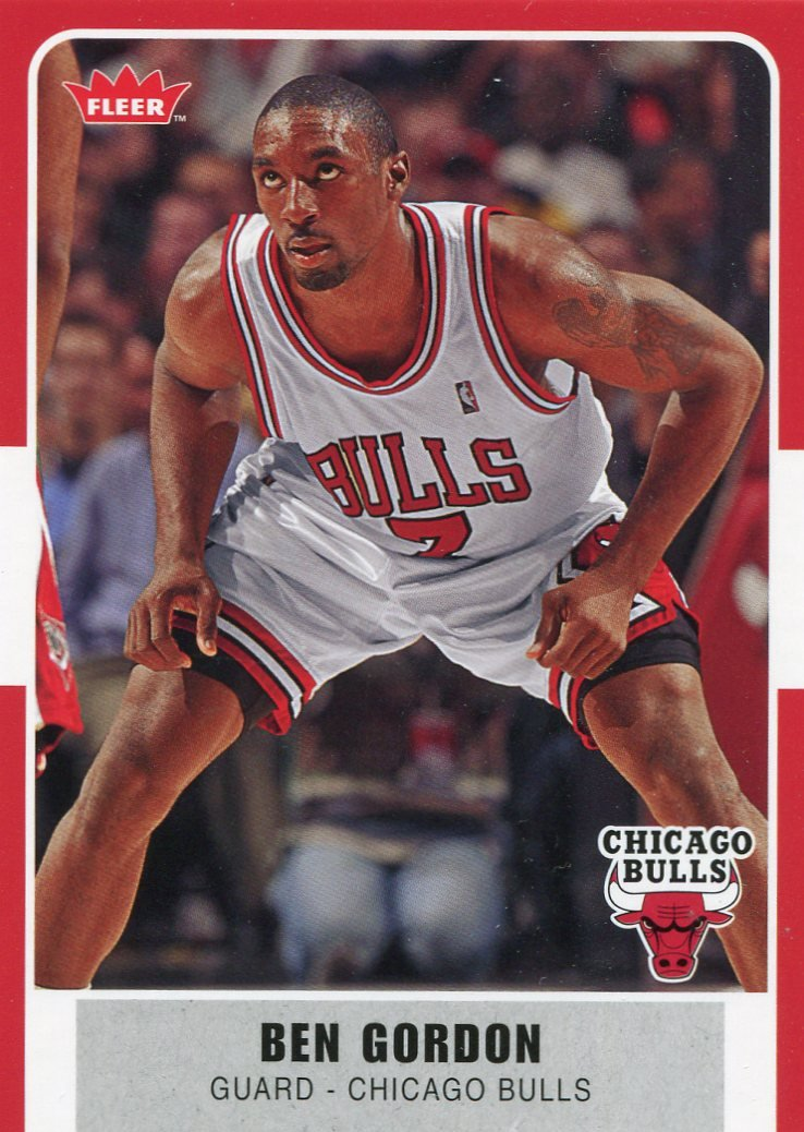 2007 Fleer Basketball Card #29 Ben Gordon