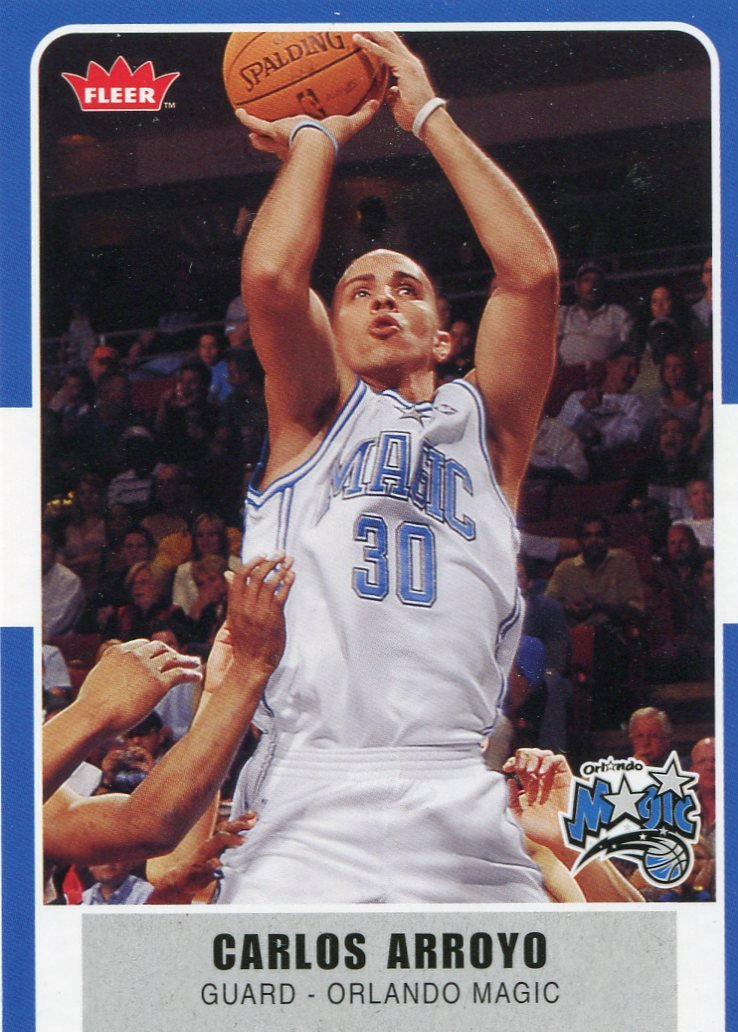 2007 Fleer Basketball Card #54 Carlos Arroyo