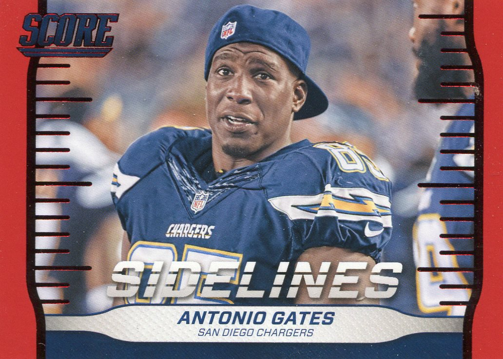 2016 Score Football Card Sidelines #17 Antonio Gates