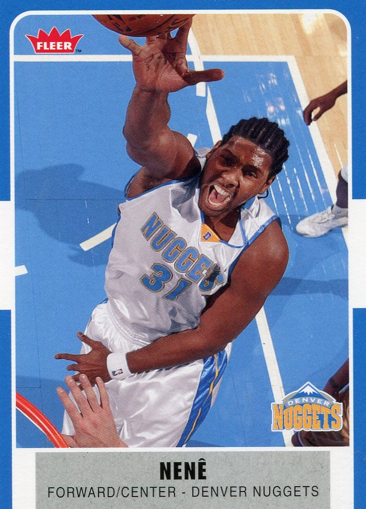 2007 Fleer Basketball Card #163 Nene