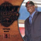 2008 Hot Prospects Basketball Card Blue Draft Night #110 Dwayne Wade