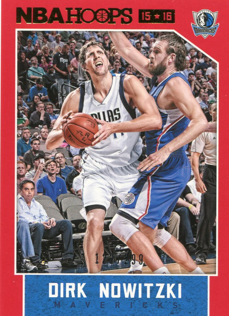 2015 Hoops Basketball Card Red Parallel #159 Dirk Nowitzki