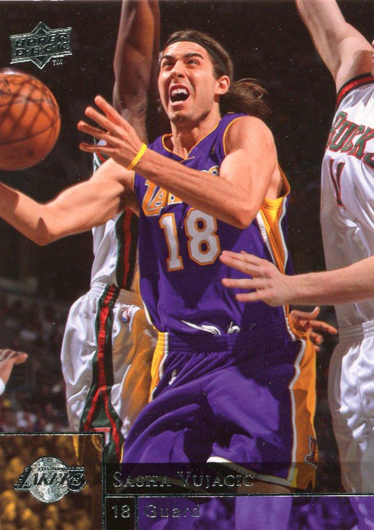 2009 Upper Deck Basketball Card #85 Sasha Vujacic
