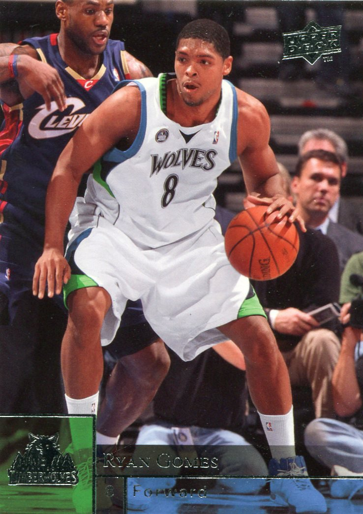 2009 Upper Deck Basketball Card #111 Ryan Gomes