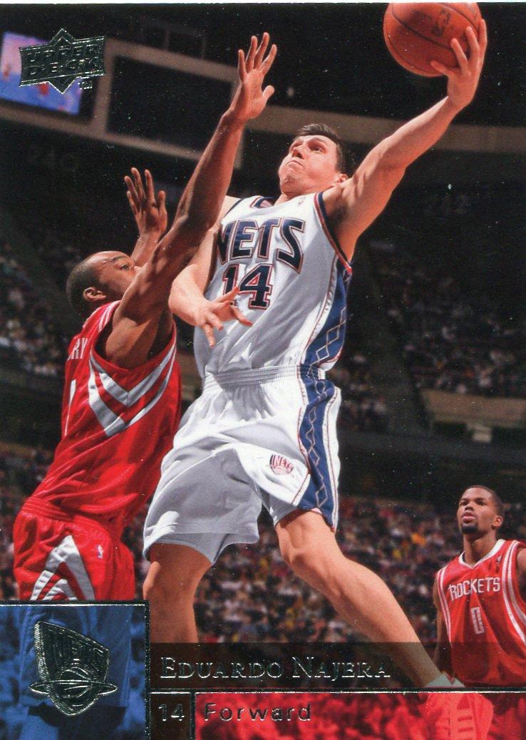 2009 Upper Deck Basketball Card #120 Eduardo Najera