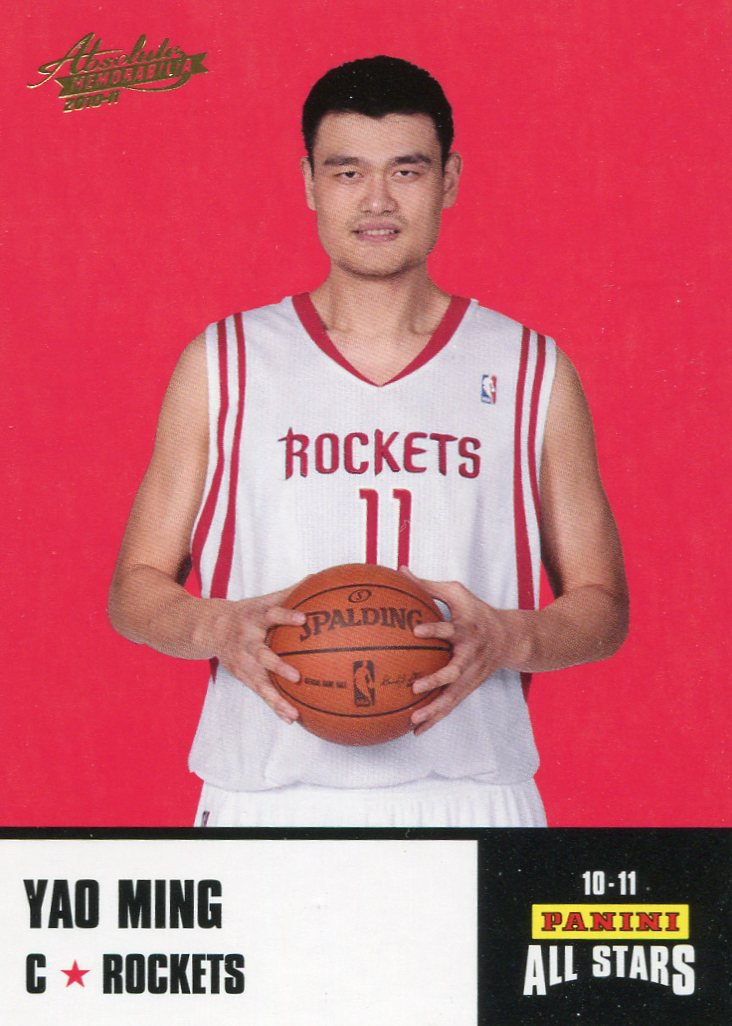 2010 Absolute Basketball Card All Stars #18 Yao Ming