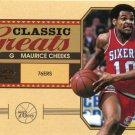 2010 Classic Basketball Card Greats #29 Maurice Cheeks