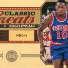 2010 Classic Basketball Card Greats #20 Dennis Rodman