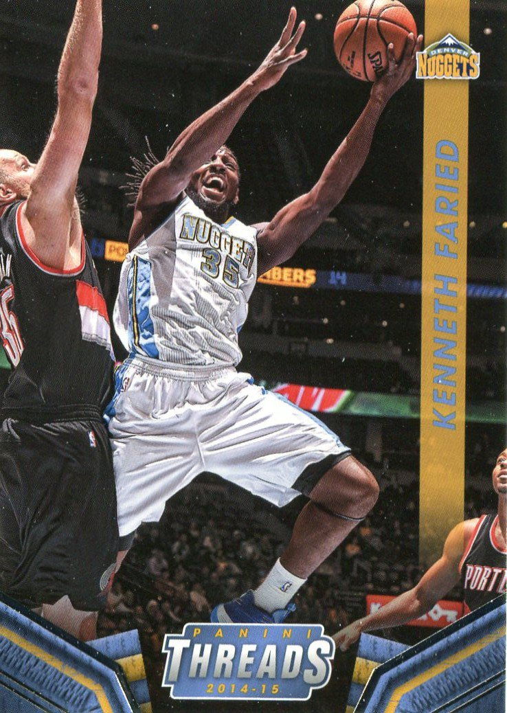 2014 Threads Basketball Card #103 Kenneth Faried