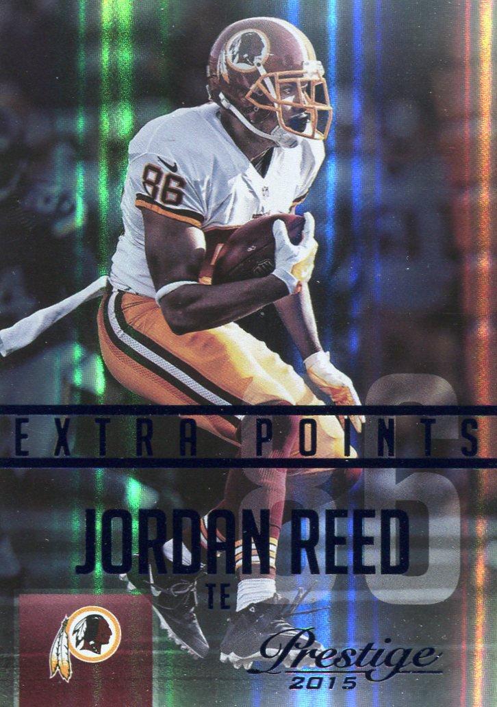 2015 Prestige Football Card Extra Points Blue #55 Jordan Reed