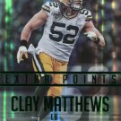 2015 Prestige Football Card Extra Points Green #98 Clay Matthews