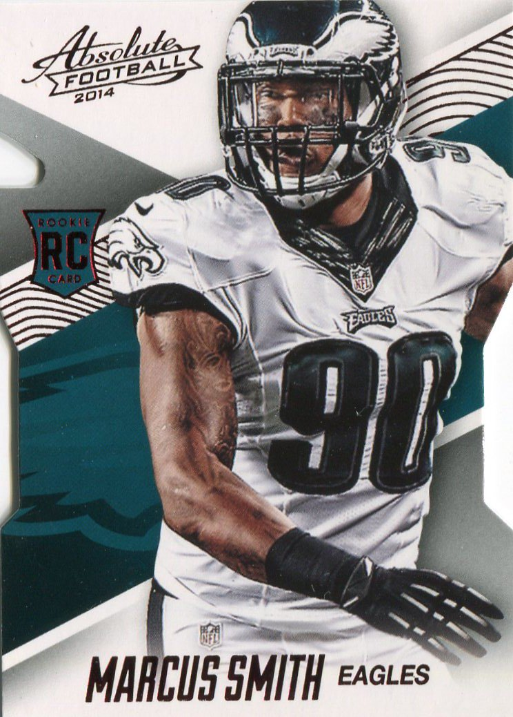 2014 Absolute Football Card Red #127 Marcus Smith