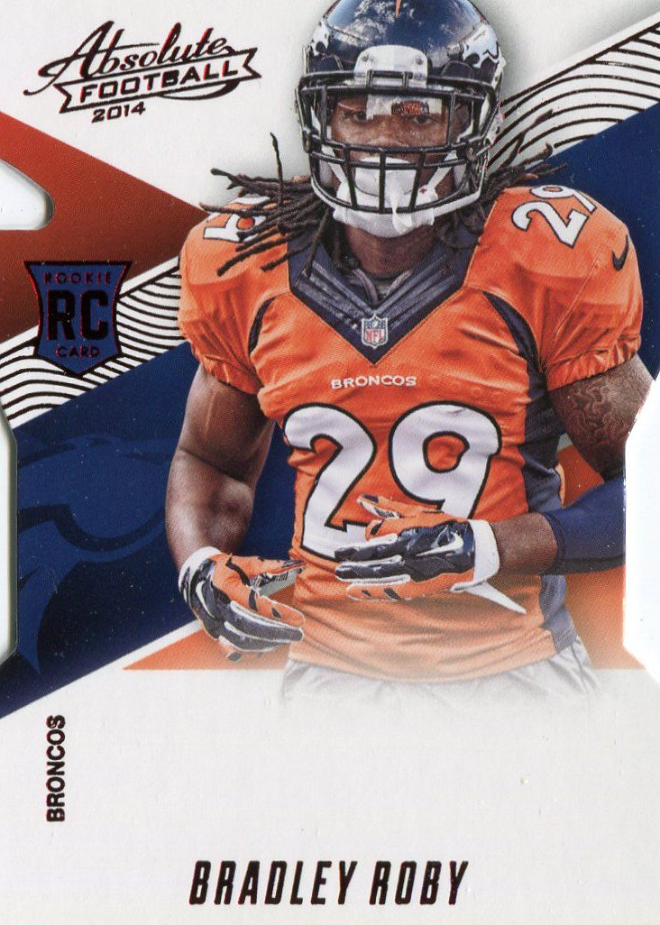 2014 Absolute Football Card Red #187 Bradley Roby