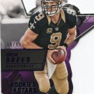 2015 Rookies & Stars Football Card #RSS18 Drew Brees