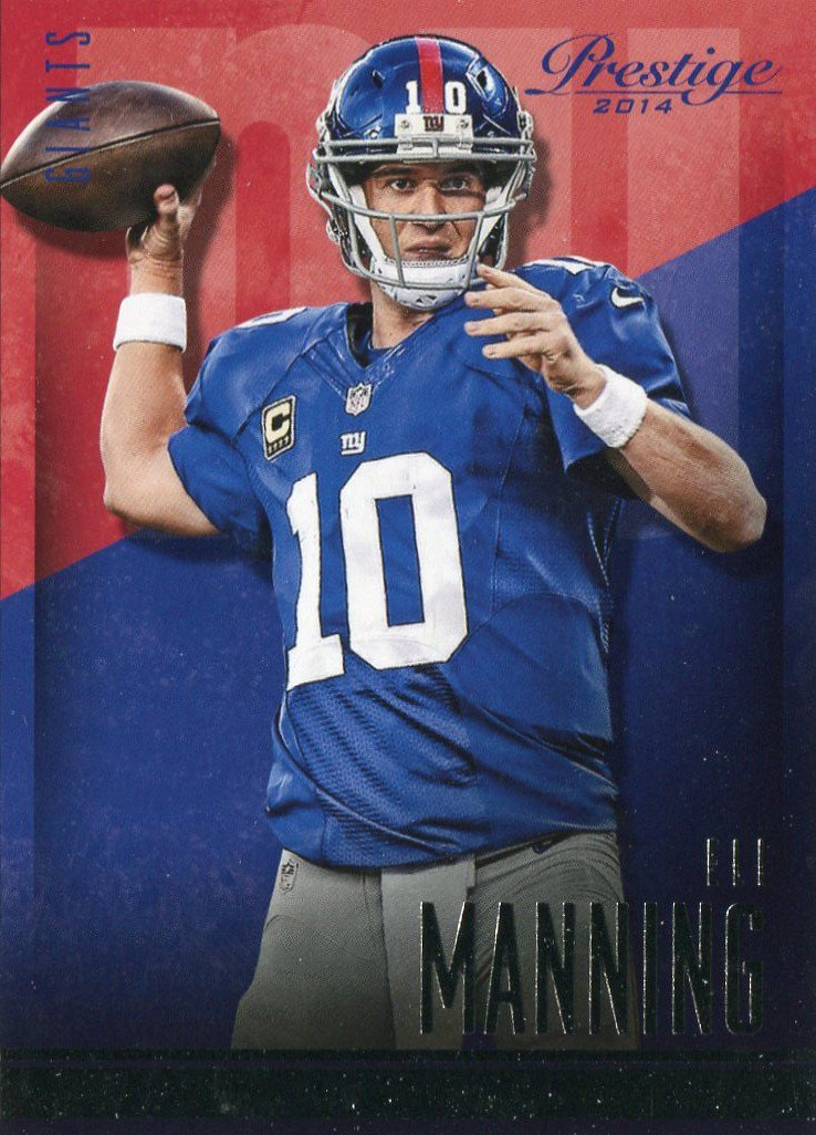 2014 Prestige Football Card #109 Eli Manning