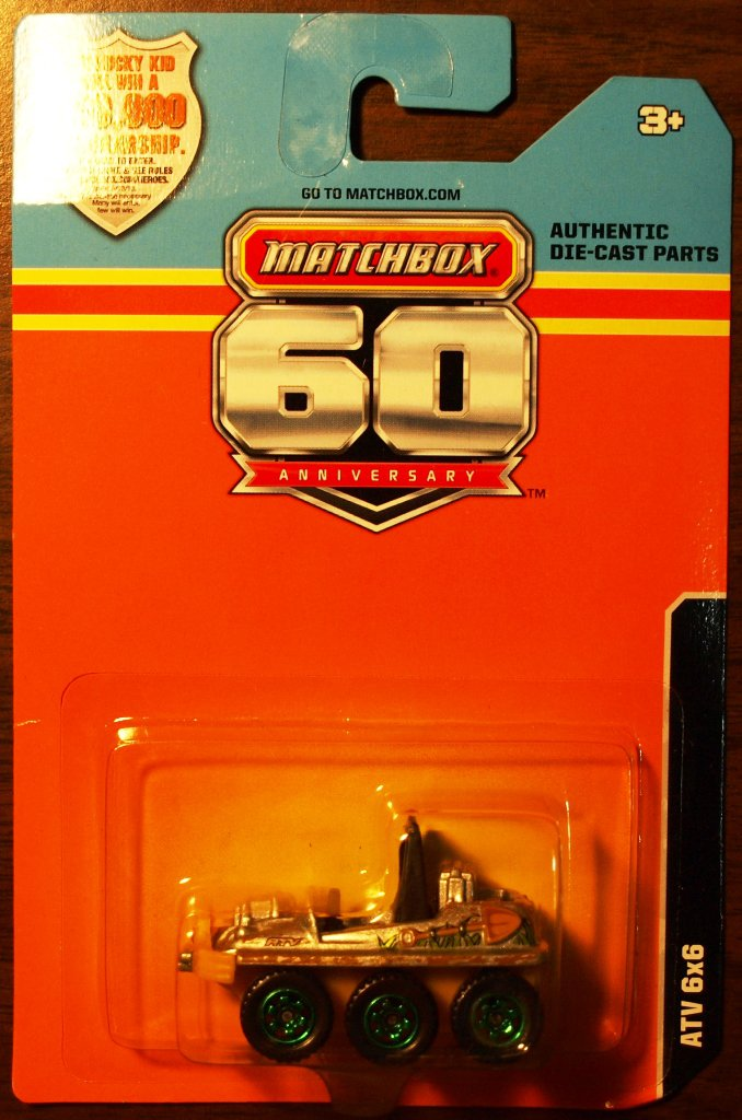 2013 Matchbox 60th Anniversary #1 ATV 6x6