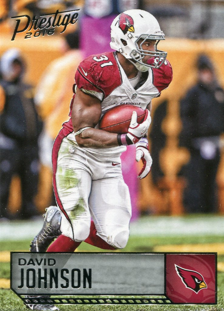 2016 Prestige Football Card #3 David Johnson