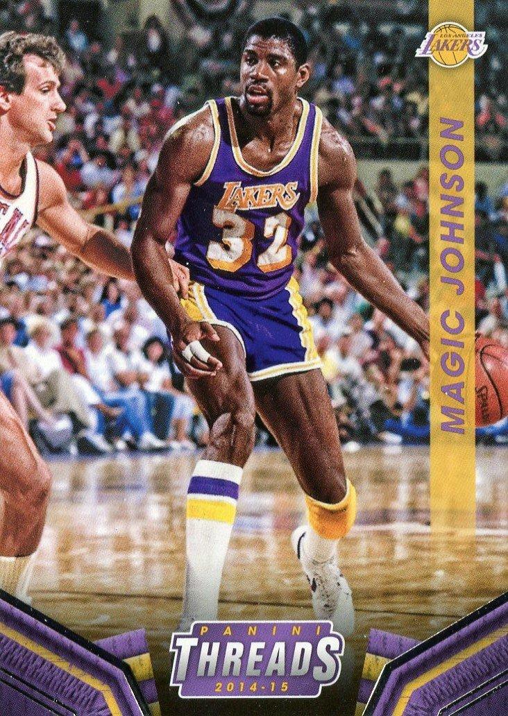 2014 Threads Basketball Card #123 Magic Johnson