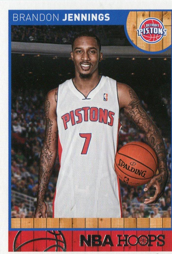 2013 Hoops Basketball Card #236 Brandon Jennings