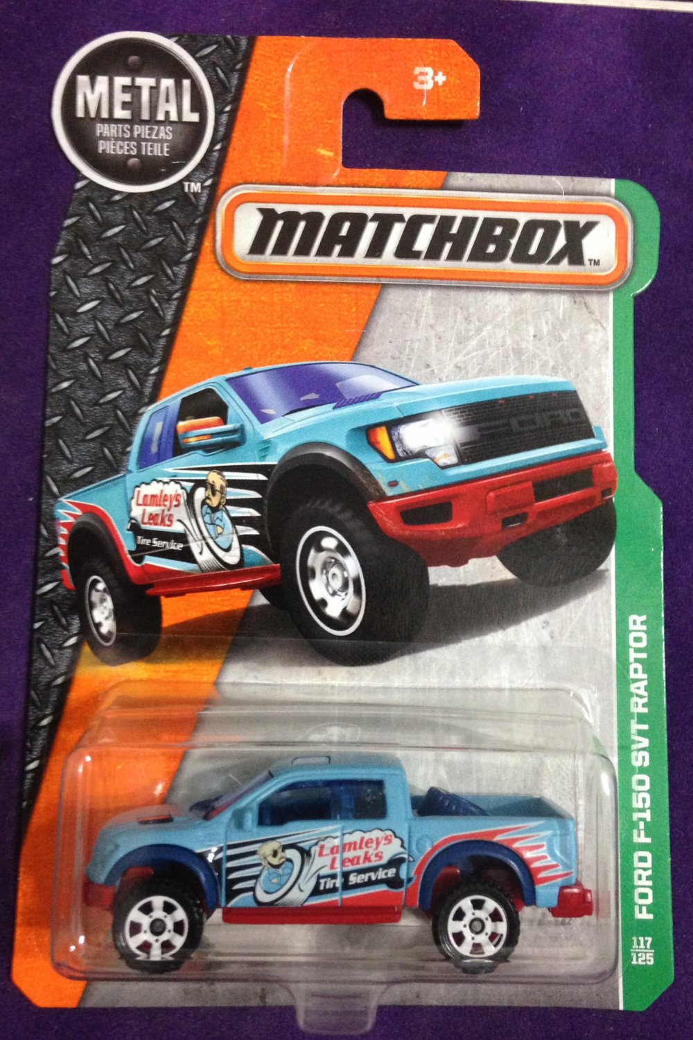 2017 Matchbox #117 Ford F-150 SVT Raptor