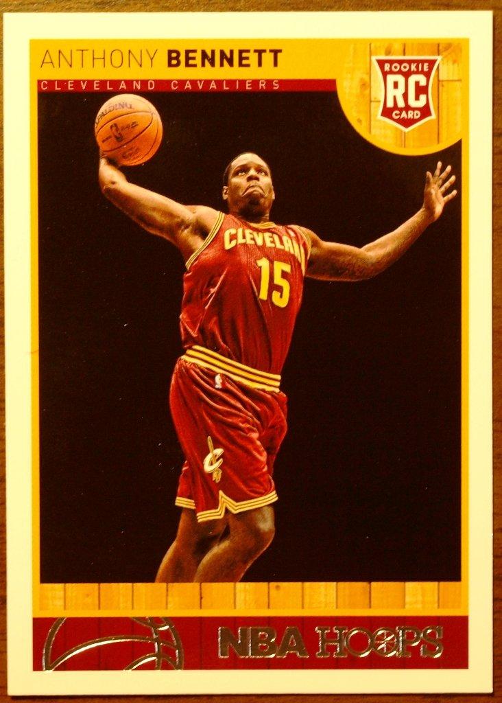 2013 Hoops Basketball Card #261 Anthony Bennett