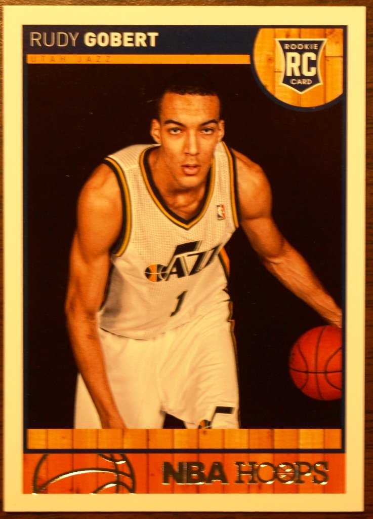 2013 Hoops Basketball Card #287 Rudy Gobert