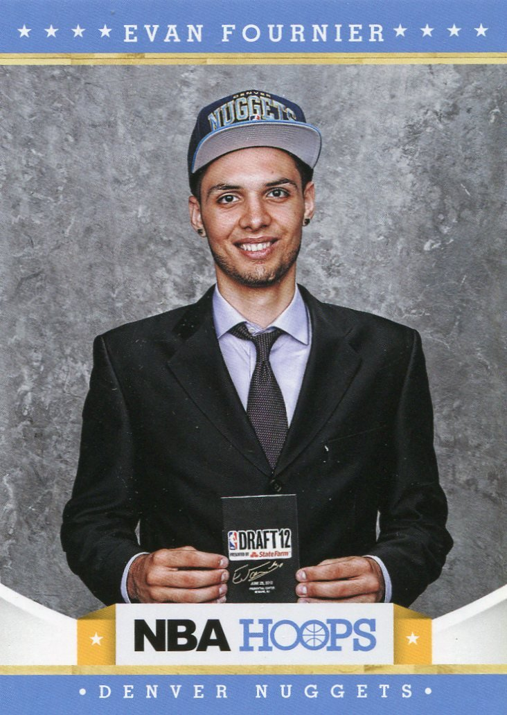 2012 Hoops Basketball Card #290 Evan Fournier