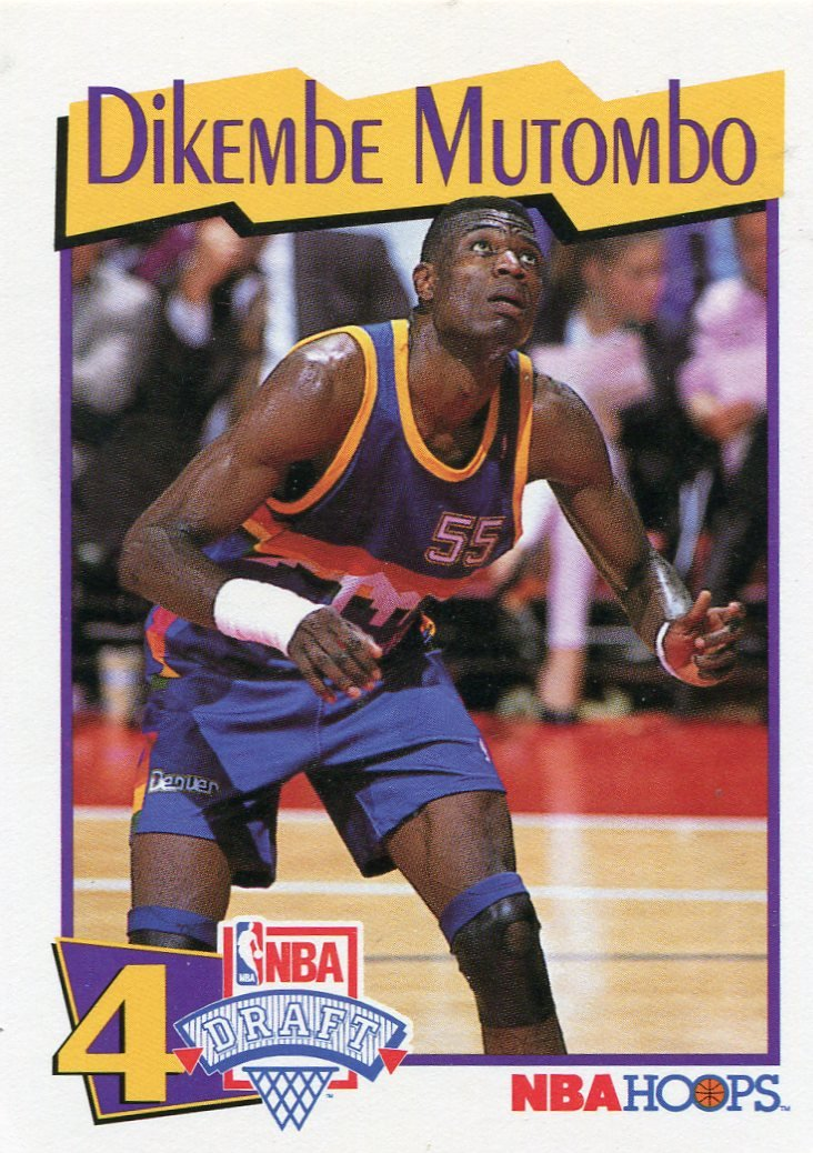 1991 Hoops McDonalds Basketball Card #49 Dikembe Mutombo