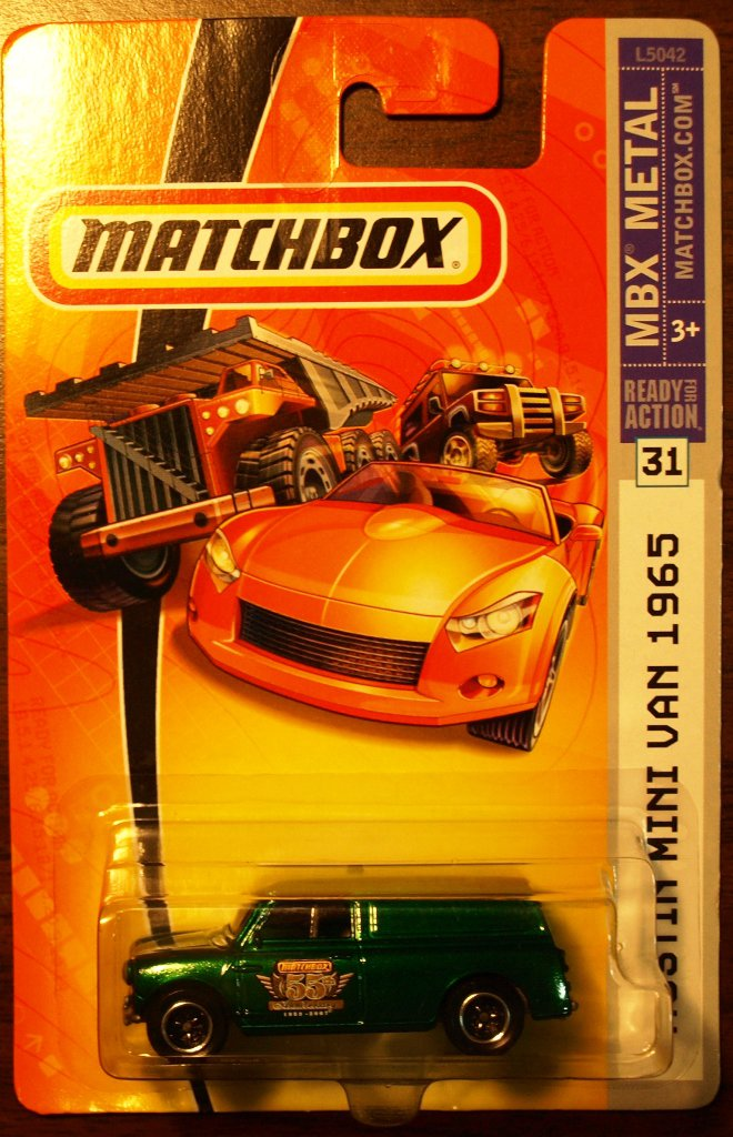 2007 Matchbox #31 Austin Mini Van 55th Anniversary