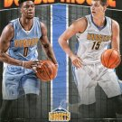 2016 Hoops Basketball Card Double Trouble #7 Emmanuel Mundiay / Nikola Jokic