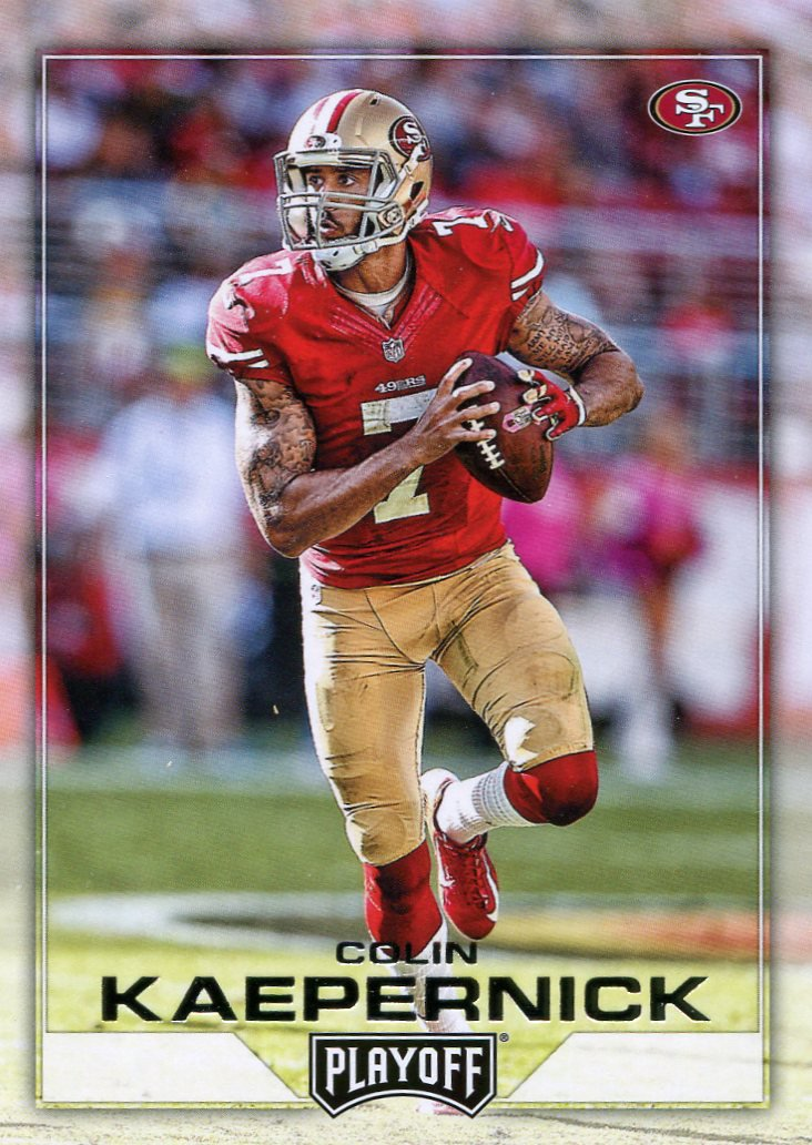 2016 Playoff Football Card #155 Colin Kaepernick