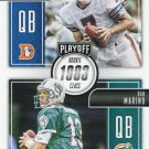 2016 Playoff Football Card Class Reunion #CR-EM John Elway / Dan Marino
